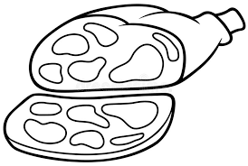 Pork Ham stock vector Illustration of isolated cartoon