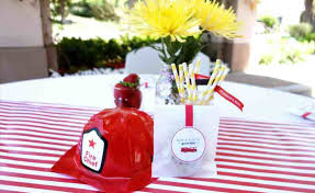 Centerpiece With Dalmation Dog Hydrant Toy Bank Table Fire Truck