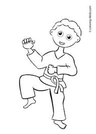 Karate Kid Young Girl Coloring Page