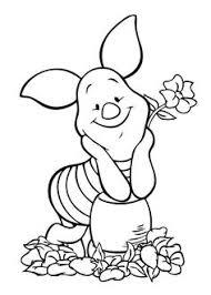 Winnie Pooh Piglet Coloring Page