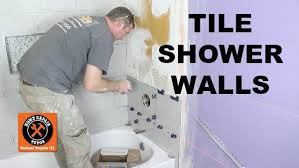 how to tile a shower wall and cut holes in tile home repair tutor