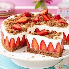 ist eine torte mit aufgeschnittenen erdbeeren haltbar