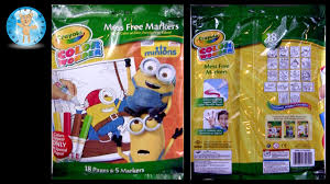 Crayola Color Wonder Minions Movie Coloring Pages Mess Free Markers Review