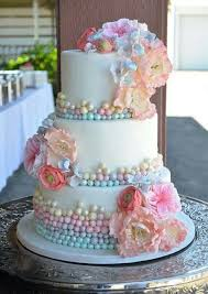 Pastel Wedding Cakes With Floral Decorations