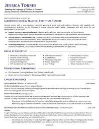 Pre K Teacher Resume Elegant Substitute Example Examples Of Resumes