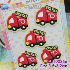 100 Cost Of A Fire Truck Iron On Patches Made Of Embroidered Easy To Pply Just