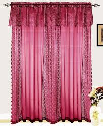 Priscilla Curtains With Attached Valance by Interior Lavish Lace Curtains Walmart With Oriental Effects