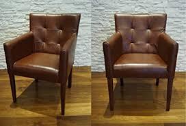 quattro meble echtleder esszimmerstühle mit armlehne braunes
