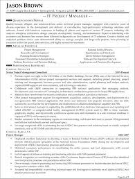 Resume Information Technology It Project Manager Example Objectives For Student