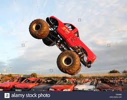 Monster Truck Doing A Jump Stock Photo: 37541291 - Alamy