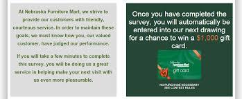 Nebraska Furniture Mart Customer Service Survey
