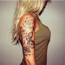 Best Rose Arm Tattoos For Women