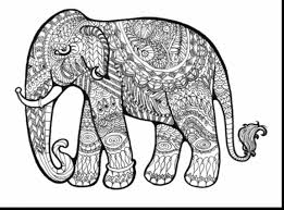Astounding Hard Coloring Pages Elephant With Free For Adults Printable To Color And