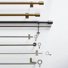 Umbra Curtain Rod Brass by Oversized Adjustable Metal Rod West Elm