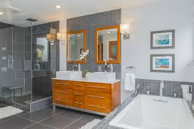 contemporary master bathroom with master bathroom slate tile in