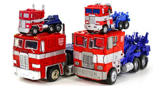 Transformers G1 Movie Mini And Voyager Optimus Prime Truck Car ...