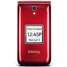 Jitterbug Flip Easy to Use Cell Phone for Seniors – Red by GreatCall
