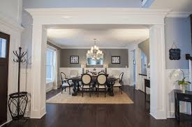 Exquisite Molding Creates A Grand Entrance Into The Dining Room Of Infinityh Home