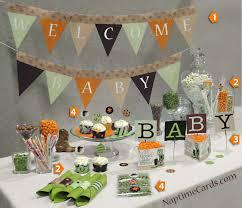 Orange Camo Bathroom Decor by Enticing Baby Shower Decorations Jungle Me Diy Baby