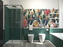 75 badezimmer mit tapetenwänden ideen bilder april 2021