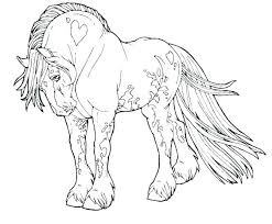 Coloring Pages Of Horses Jumping Horse Realistic Color
