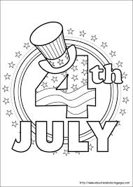 4th Of July Coloring Pages Printable Happy Download