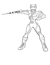 Samurai Coloring Pages Free Printable Power Rangers For Kids To Print