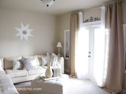 Smocked Burlap Curtain Panels by Ceiling Burlap Curtains With Brown Curtain And Wooden Cabinet For