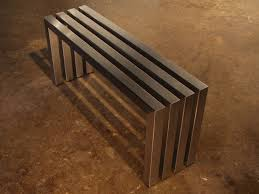 Hand Made Linear Stainless Steel Bench Modern Indoor Outdoor Bench