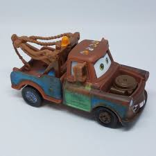 100 Tow Truck From Cars Disney Pixar World Of 3 Mater Brown NEW 155 Loose No