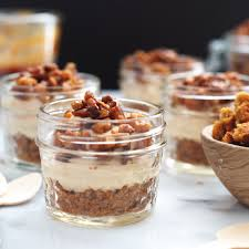 Pumpkin Mousse And Ginger Parfait by No Bake Pumpkin Cheesecake Mousse Snixy Kitchen