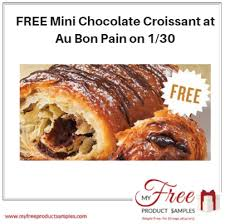 FREE Mini Chocolate Croissant At Au Bon Pain On 1 30
