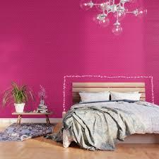 roségold tapete schlafzimmer rosa zimmer wand bett möbel