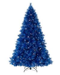 6ft Artificial Christmas Tree Pre Lit by Sassy Sapphire Blue Tinsel Christmas Tree Treetopia