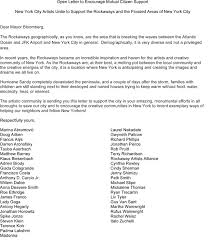 Art Music Celebrities Write a Letter to Mayor Bloomberg