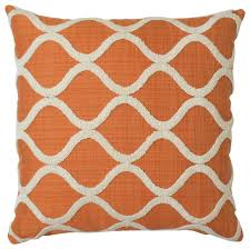 Embroidered Trellis Pillow Cover Orange & Reviews