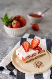 erdbeer joghurt schnitten rezept ohne backen