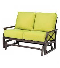 Patio Furniture Loveseat Glider by Woodard Andover Love Seat Glider