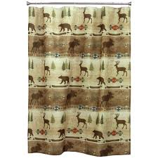 Rustic Shower Curtains Moose Bear Pinecone Designs Pertaining To Proportions 1000 X