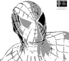 Spiderman Pumpkin Stencils Free Printable by Spiderman Face Stencil