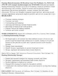 Bank Manager Cv