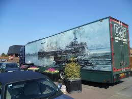 Dutch Quality Flowers Delivery Truck And Art Work Downham Market Norfolk Mar 2012