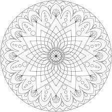 Coloring Pages Printable Best Fresh Print Free Pictures Online Mandala Adults Decor Abstract Circle Round