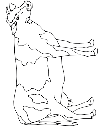 Farm Animal Coloring Page Of A Cow