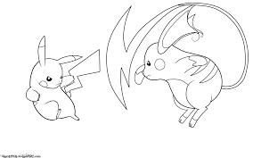 Pikachu Vs Raichu Coloring Page