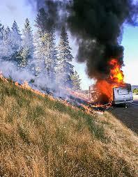 Live Oak Pumpkin Patch Fire by Fire Destroys Rv On Interstate 5 In Sutherlin Douglas County