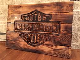 100 Harley Davidson Lounge Chair Sign Made From Pallets Reclaimed Wood Hand