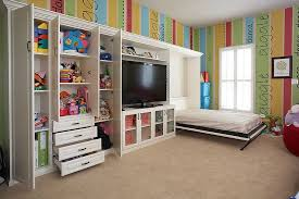 View In Gallery Take Out The Bright Walls And You Have Ideal Guest Room Playroom Combo