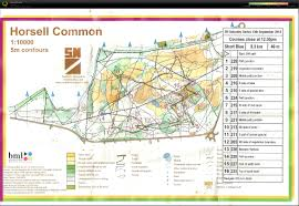 my digital orienteering map archive horsell common 13 07 2014