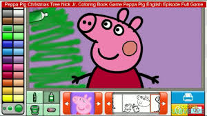 Peppa Pig Christmas Tree Nick Jr Coloring Book Game English Episode Full